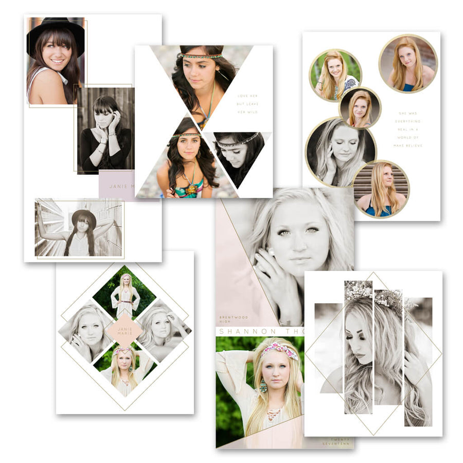 Geometric | Blog Collage Frame Templates - 3 Dollar Photoshop Templates for Photographers