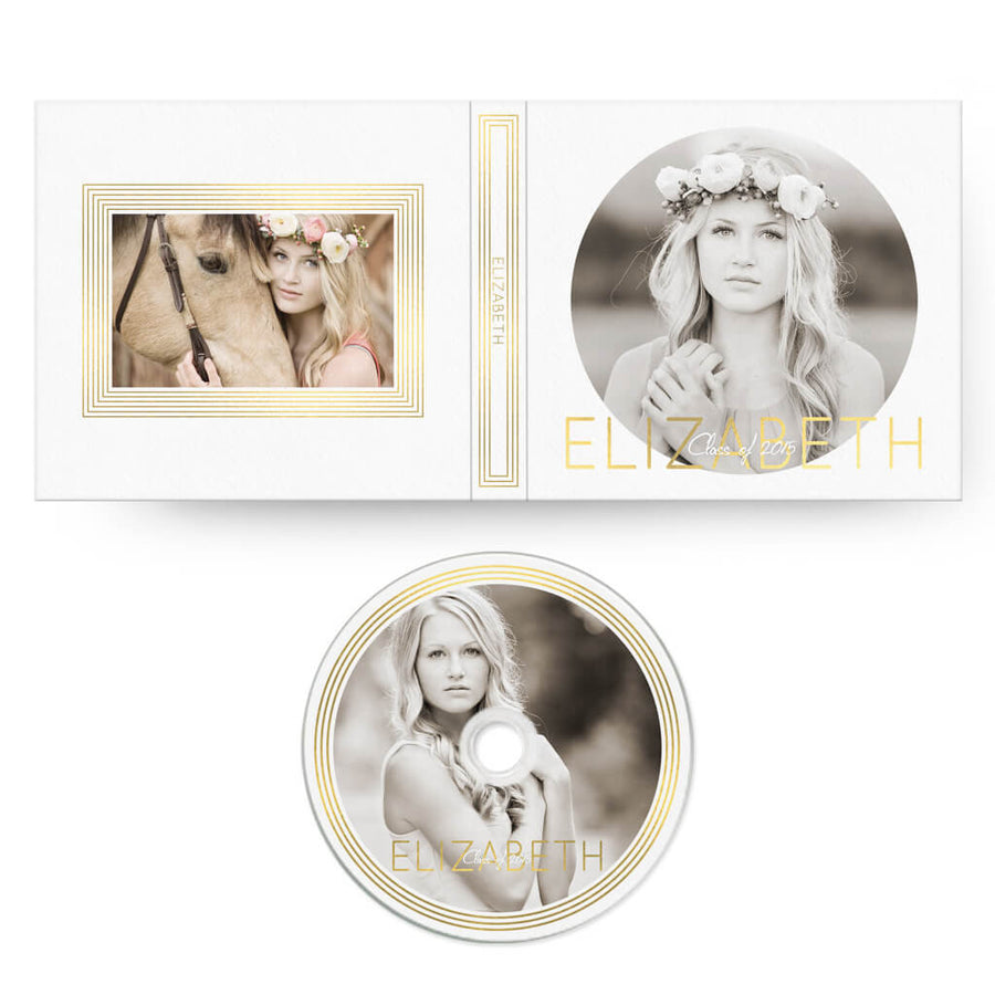 Glam | CD Case + Optional CD Label - 3 Dollar Photoshop Templates for Photographers