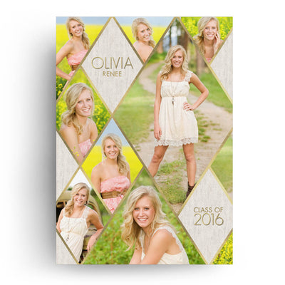 Glamour | Senior Graduation Card - 3 Dollar Photoshop Templates for Photographers