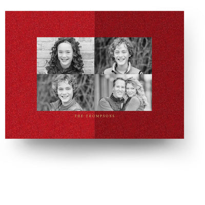 Glitter Joy | Christmas Card - 3 Dollar Photoshop Templates for Photographers
