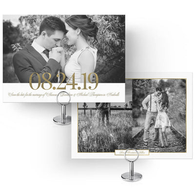 Gold Date | Save-the-Date Card - 3 Dollar Photoshop Templates for Photographers