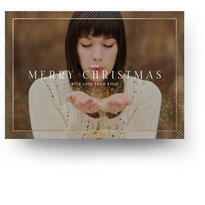Gold Border | Christmas Card - 3 Dollar Photoshop Templates for Photographers