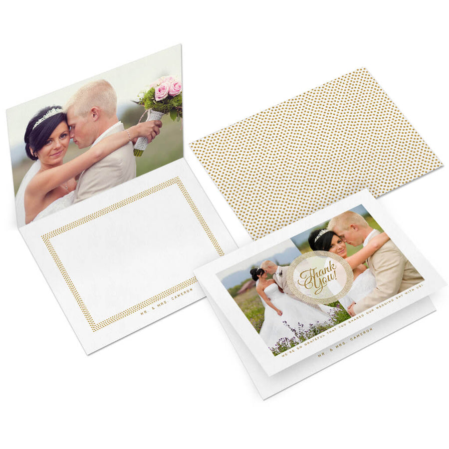 Gold Dust | 5x7 Folding Thank You Card - 3 Dollar Photoshop Templates for Photographers