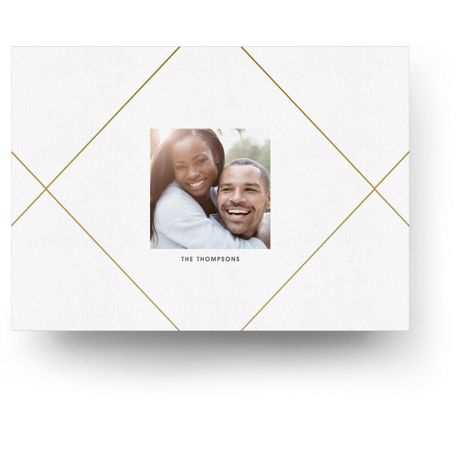 Gold Joyful | Christmas Card - 3 Dollar Photoshop Templates for Photographers