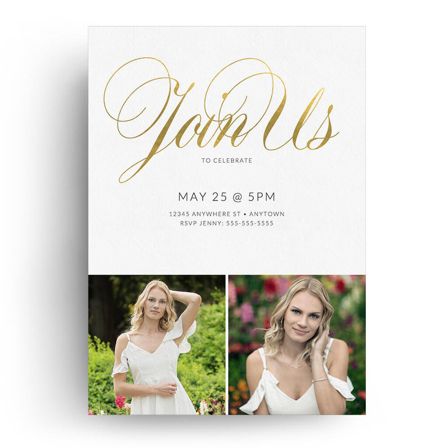 Grace | Senior Graduation Card - 3 Dollar Photoshop Templates for Photographers