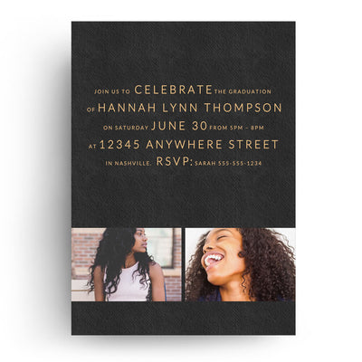 Graceful  Senior Graduation Card   Dollar Templates