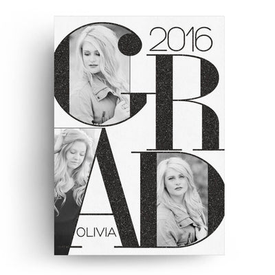 Grad | Senior Graduation Card - 3 Dollar Photoshop Templates for Photographers