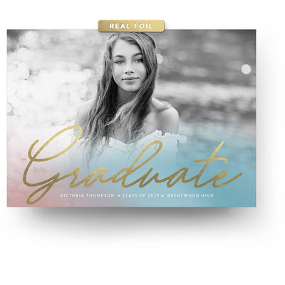 Gradient | Senior Graduation Card - 3 Dollar Photoshop Templates for Photographers