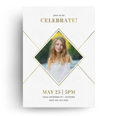 Graphic Corners | Senior Graduation Card - 3 Dollar Photoshop Templates for Photographers