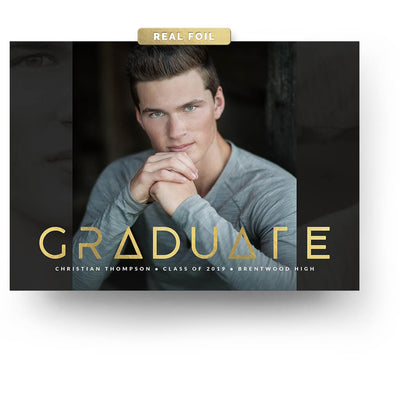 Graphic Type | Senior Graduation Card - 3 Dollar Photoshop Templates for Photographers