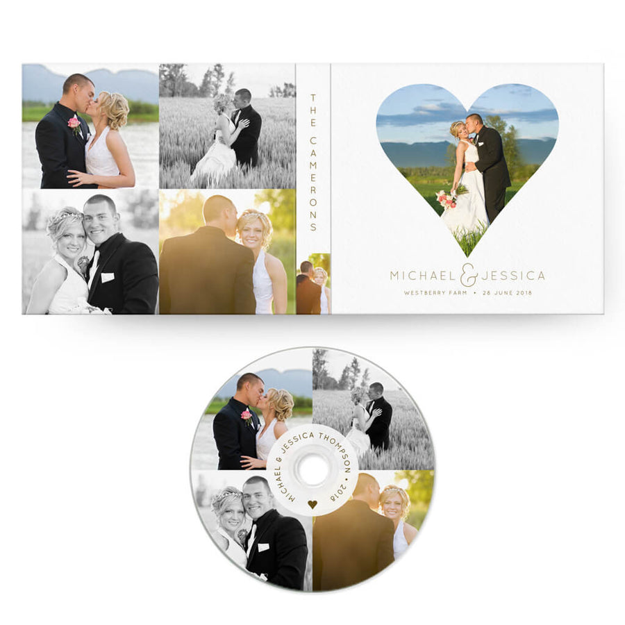 Heart | CD Case + Optional CD Label - 3 Dollar Photoshop Templates for Photographers