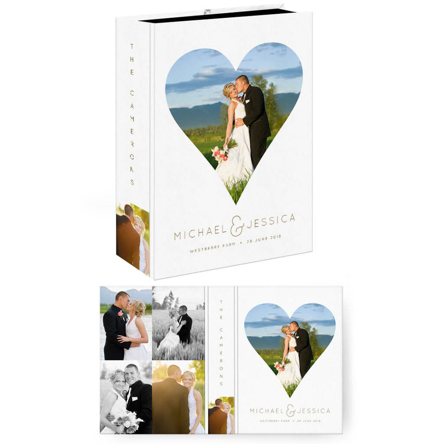 Heart | Vertical Image Box - 3 Dollar Photoshop Templates for Photographers