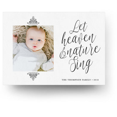 Heaven and Nature | Christmas Card - 3 Dollar Photoshop Templates for Photographers