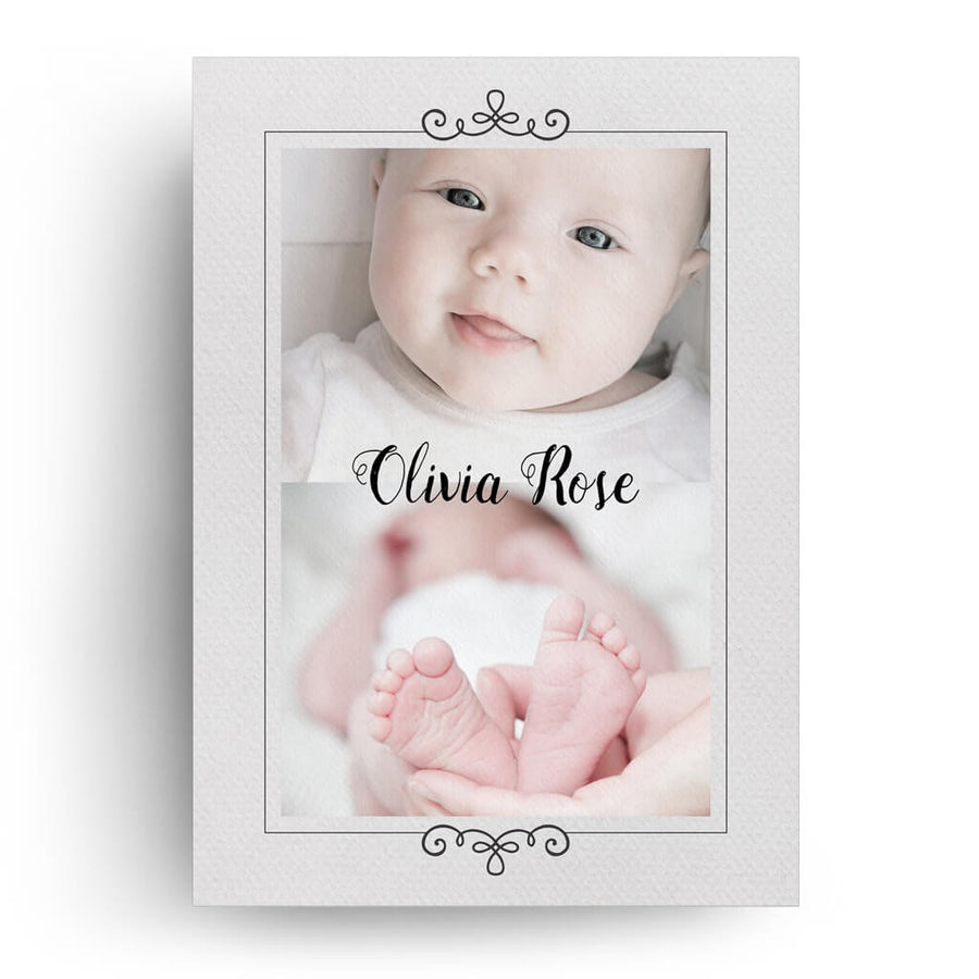 Hello World | Birth Announcement Card - 3 Dollar Photoshop Templates for Photographers