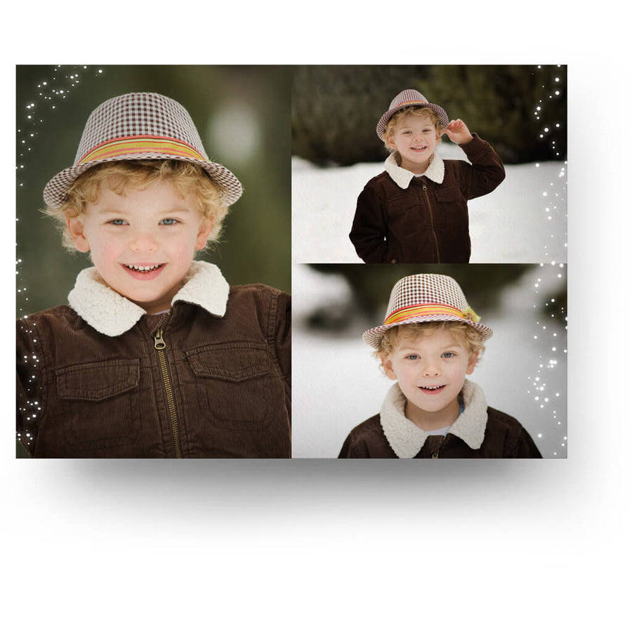 Holiday Flourishes | Christmas Card - 3 Dollar Photoshop Templates for Photographers
