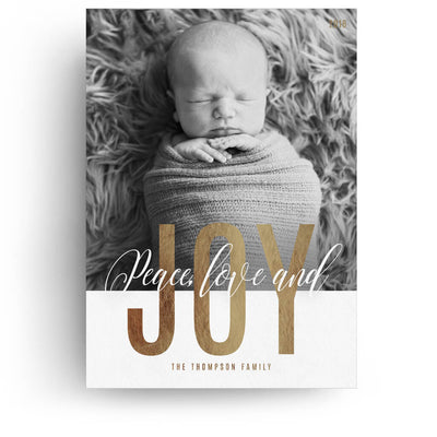 Holiday Joy | Christmas Card - 3 Dollar Photoshop Templates for Photographers