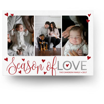Holiday Love | Christmas Card - 3 Dollar Photoshop Templates for Photographers
