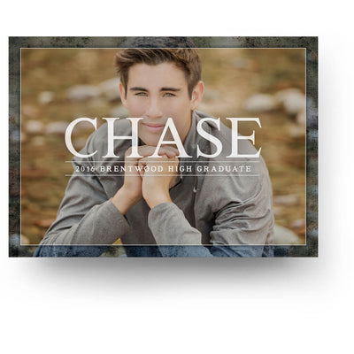 Indigo | Senior Graduation Card - 3 Dollar Photoshop Templates for Photographers