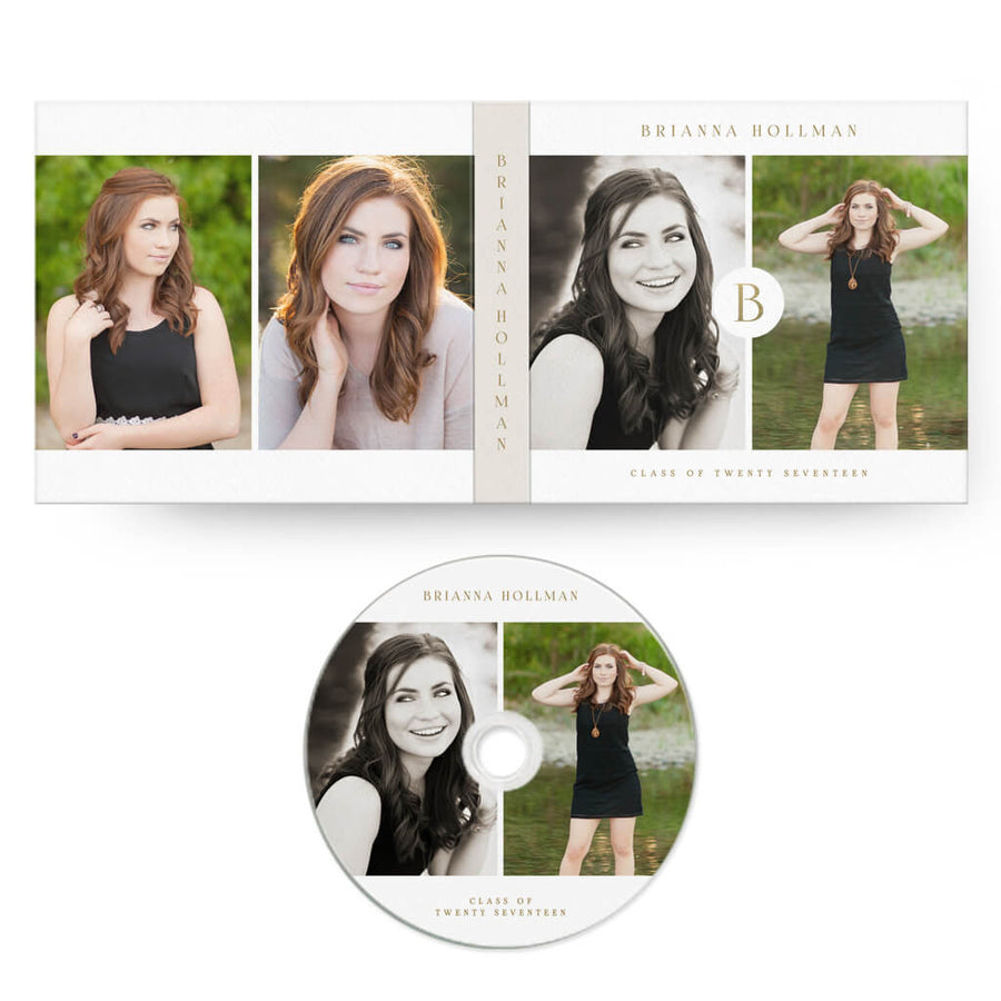 Initial | CD Case + Optional CD Label - 3 Dollar Photoshop Templates for Photographers