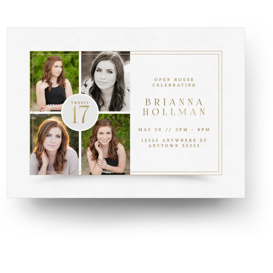 Initial | Senior Graduation Card - 3 Dollar Photoshop Templates for Photographers