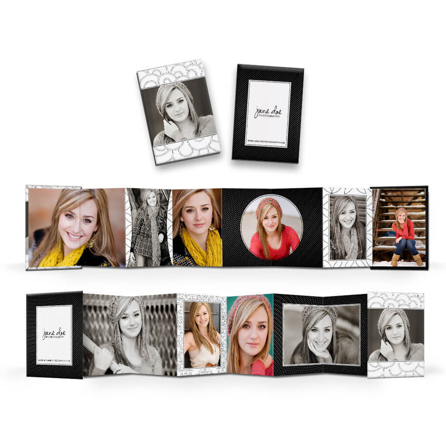 Isabella | Wallet Accordion Mini Book - 3 Dollar Photoshop Templates for Photographers