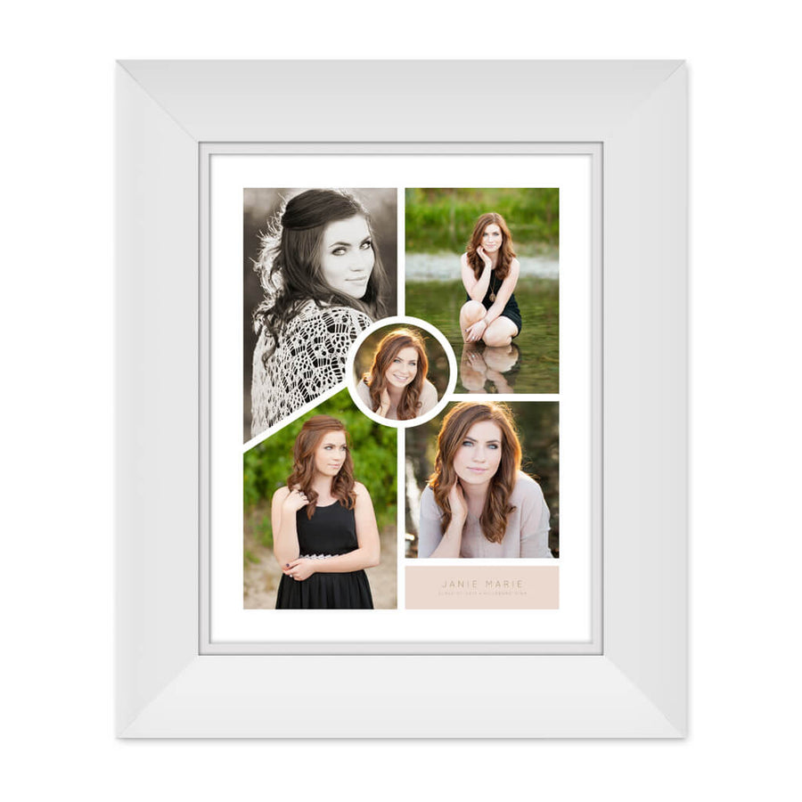 Janie | 11x14 Collage Template - 3 Dollar Photoshop Templates for Photographers