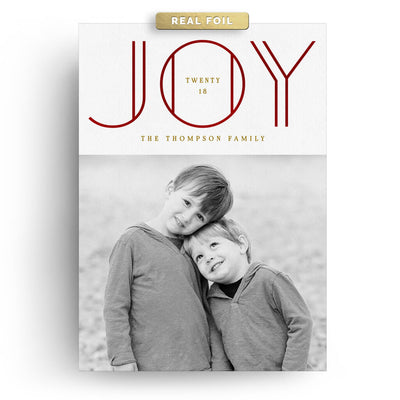 Joy Lines | Christmas Card - 3 Dollar Photoshop Templates for Photographers