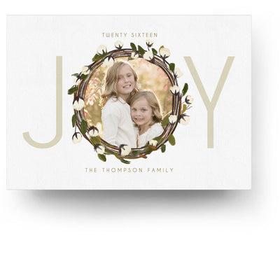 Joy Wreath | Christmas Card - 3 Dollar Photoshop Templates for Photographers