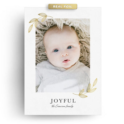 Joyful Leaves | Christmas Card