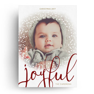 Joyful Script | Christmas Card - 3 Dollar Photoshop Templates for Photographers