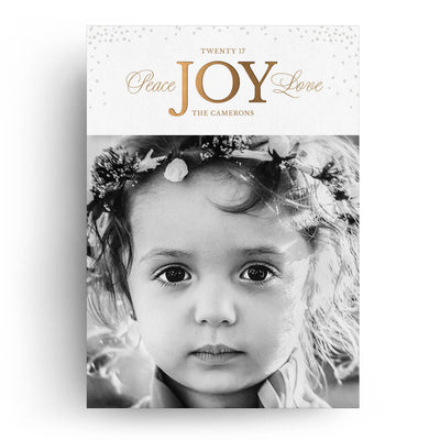 Joy of Christmas | Christmas Card - 3 Dollar Photoshop Templates for Photographers
