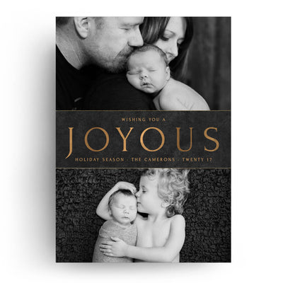 Joyous Family | Christmas Card - 3 Dollar Photoshop Templates for Photographers