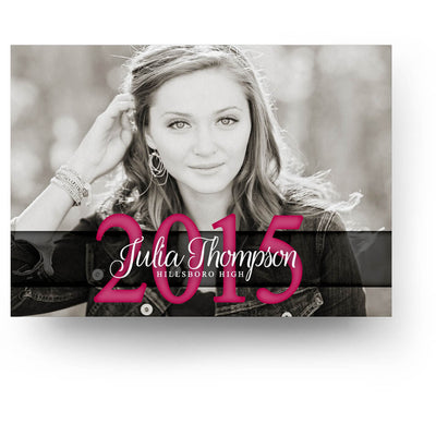 Julia | Senior Graduation Card - 3 Dollar Photoshop Templates for Photographers