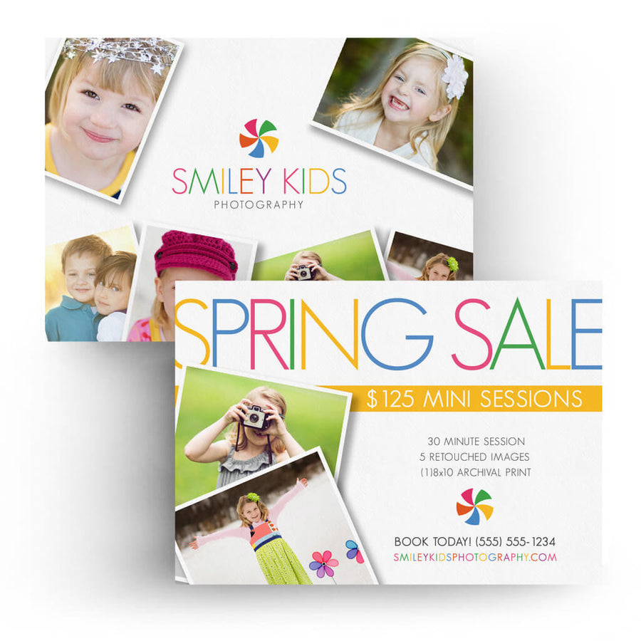 Kids | 5x7 Marketing Postcard - 3 Dollar Photoshop Templates for Photographers