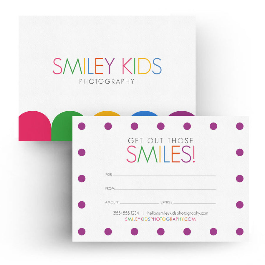 Kids | 5x7 Gift Certificate - 3 Dollar Photoshop Templates for Photographers