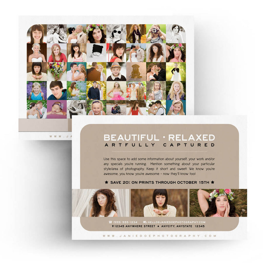 Lots O Pics | 5x7 Marketing Postcard - 3 Dollar Photoshop Templates for Photographers