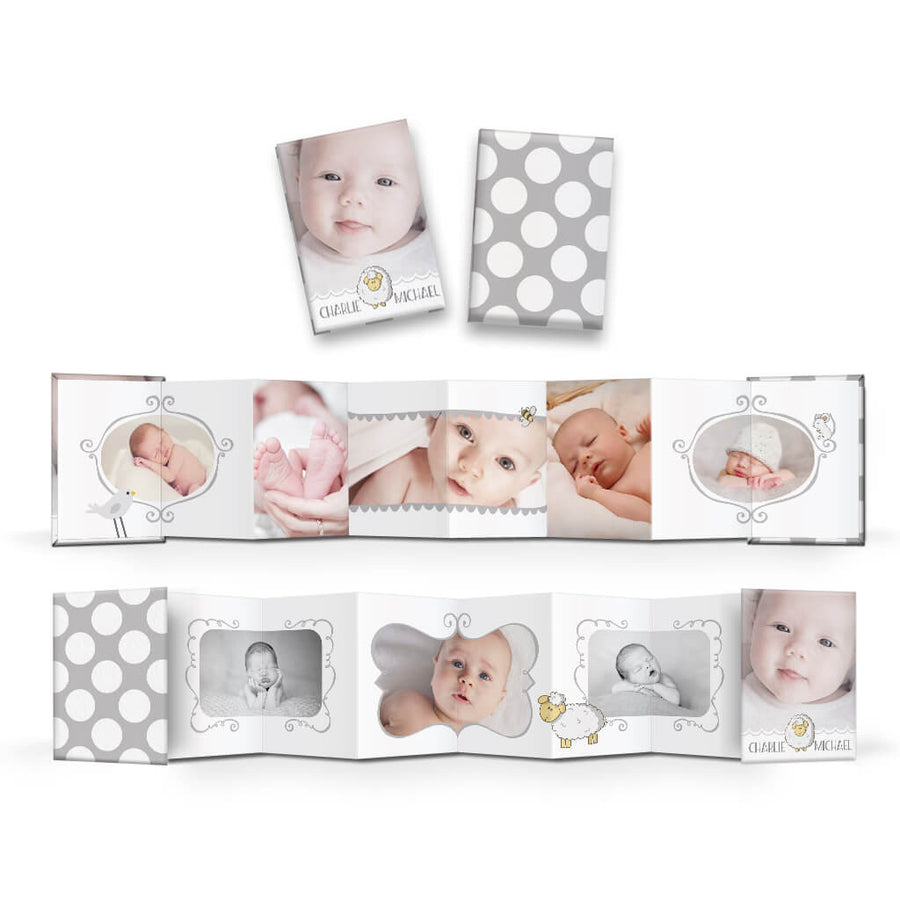 Little Lamb | Wallet Accordion Mini Book - 3 Dollar Photoshop Templates for Photographers