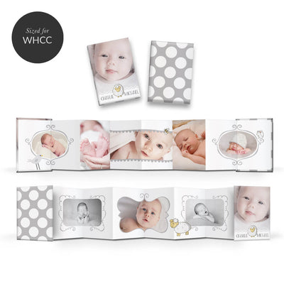 Little Lamb | Mini Accordion Book - 3 Dollar Photoshop Templates for Photographers