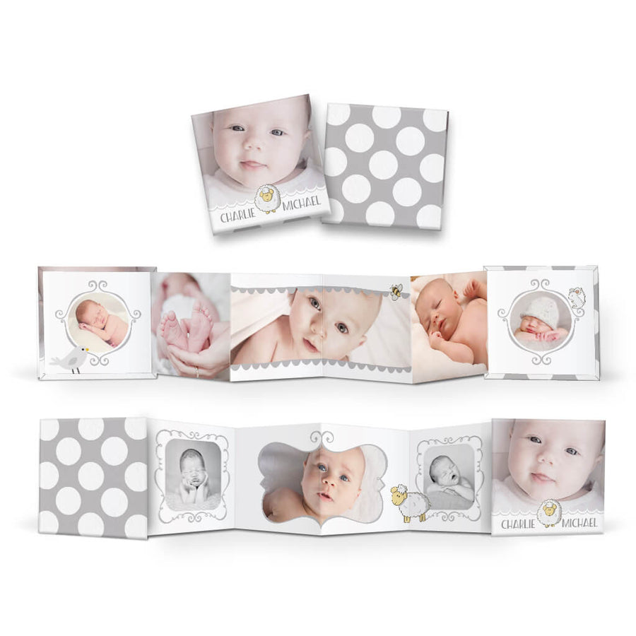 Little Lamb | Square Accordion Mini Book - 3 Dollar Photoshop Templates for Photographers