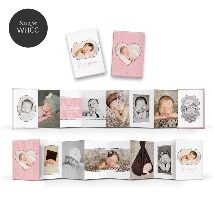Little One | Mini Accordion Book - 3 Dollar Photoshop Templates for Photographers