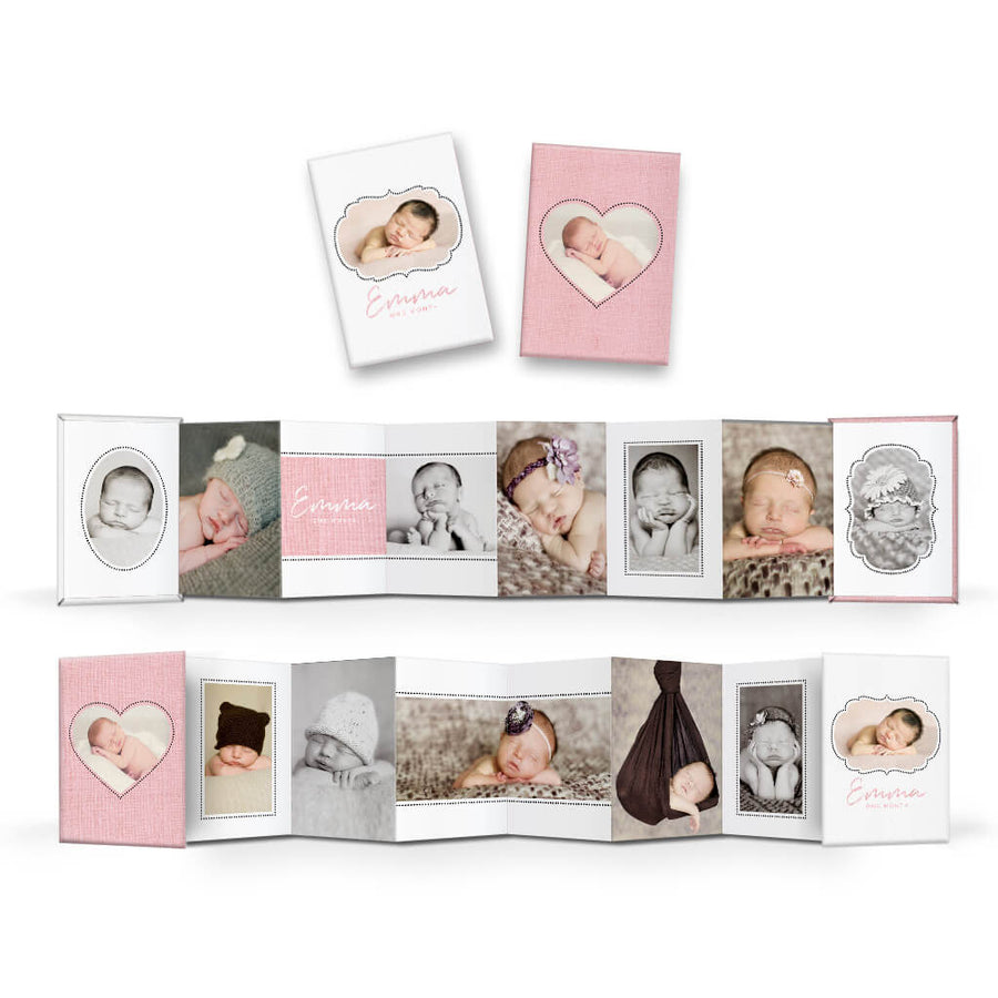 Little One | Wallet Accordion Mini Book - 3 Dollar Photoshop Templates for Photographers