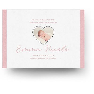Little One | Birth Announcement Card - 3 Dollar Photoshop Templates for Photographers