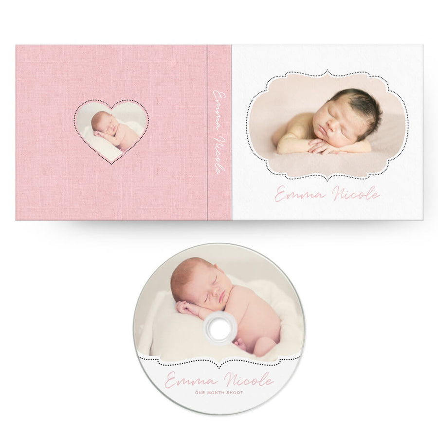 Little One | CD Case + Optional CD Label - 3 Dollar Photoshop Templates for Photographers