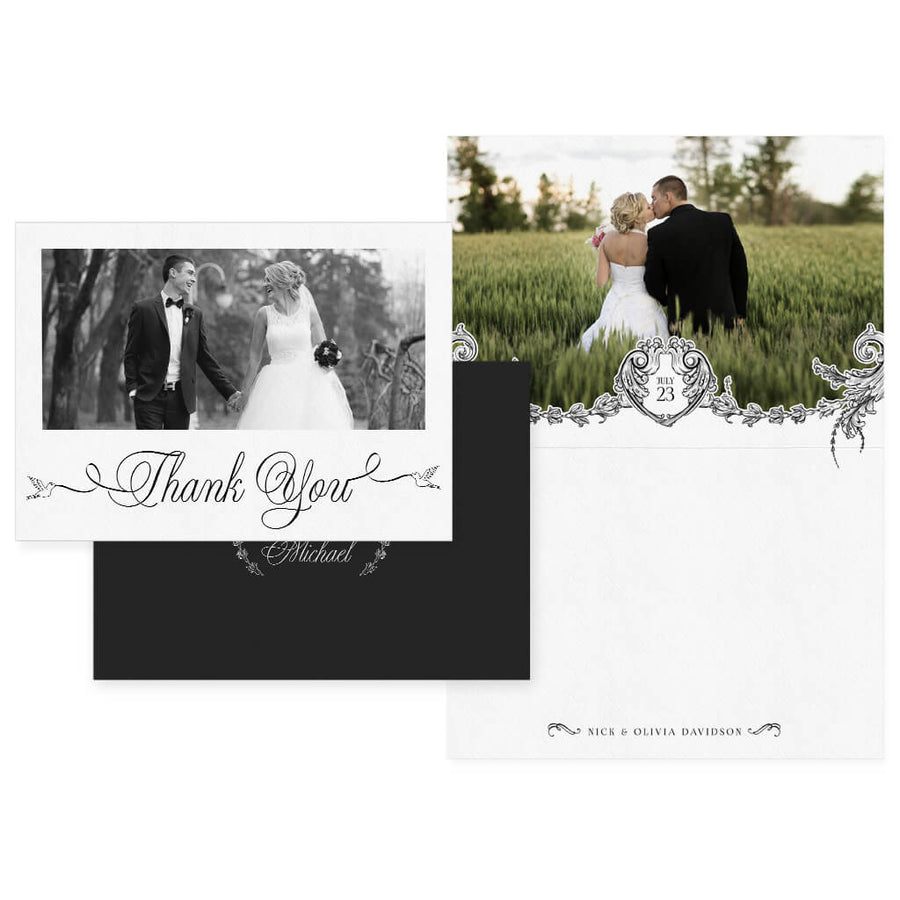Love Birds | 5x7 Folding Thank You Card - 3 Dollar Photoshop Templates for Photographers
