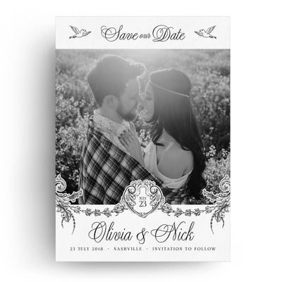Love Birds | Save-the-Date Card - 3 Dollar Photoshop Templates for Photographers