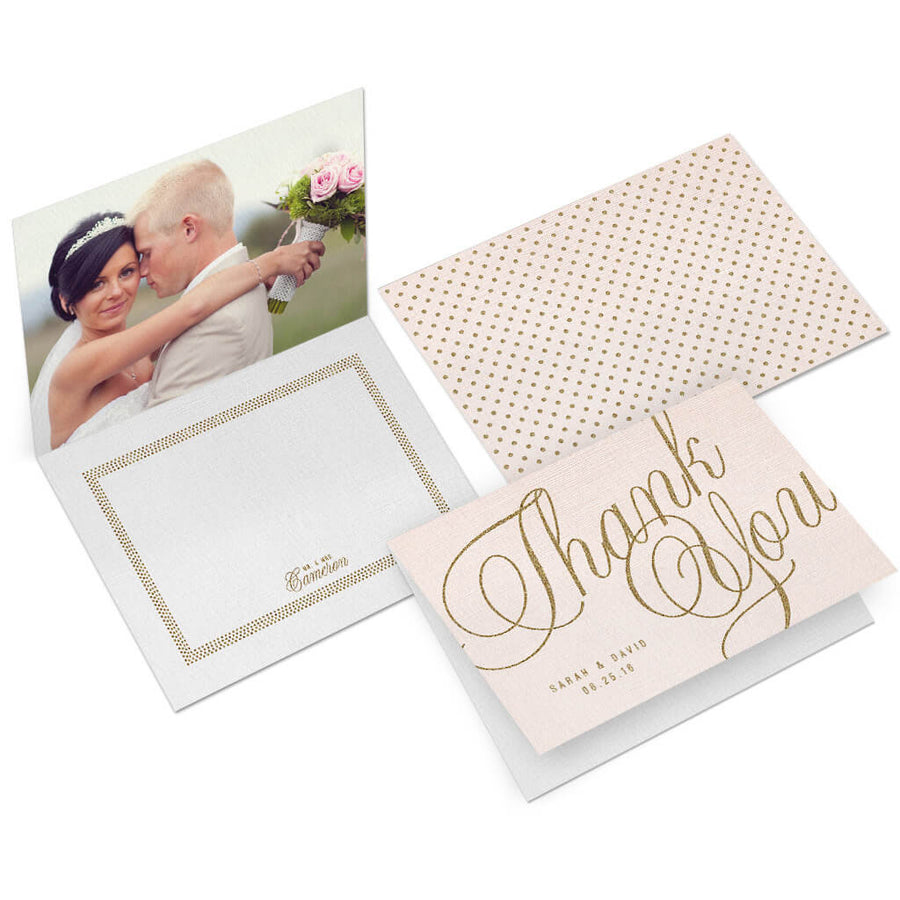 Lovely | 5x7 Folding Thank You Card - 3 Dollar Photoshop Templates for Photographers