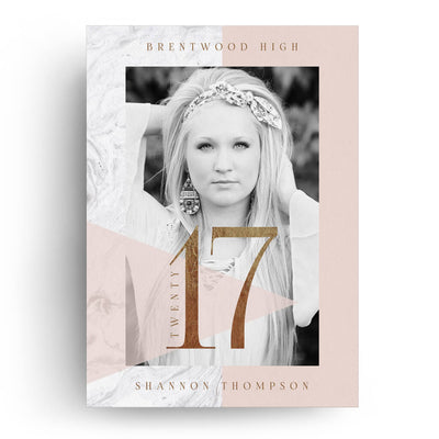 Marble | Senior Graduation Card - 3 Dollar Photoshop Templates for Photographers