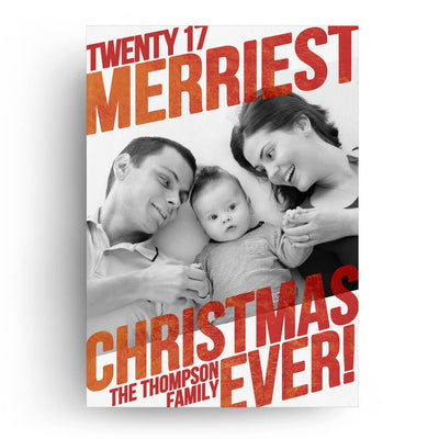 Merriest EVER | Christmas Card - 3 Dollar Photoshop Templates for Photographers