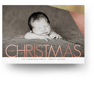 Metallic | Christmas Card - 3 Dollar Photoshop Templates for Photographers