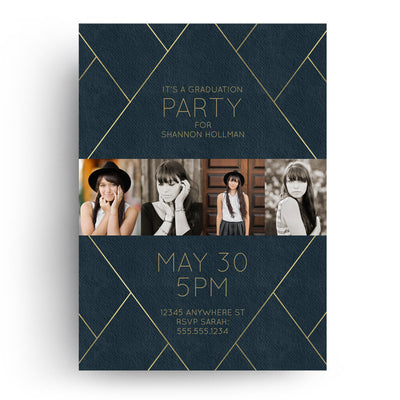 Midnight | Senior Graduation Card - 3 Dollar Photoshop Templates for Photographers
